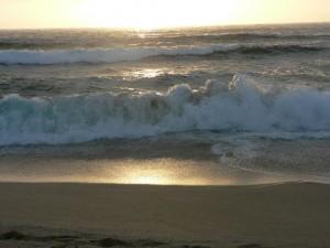 Montaro Beach sunset, Sea Foam waves study007
